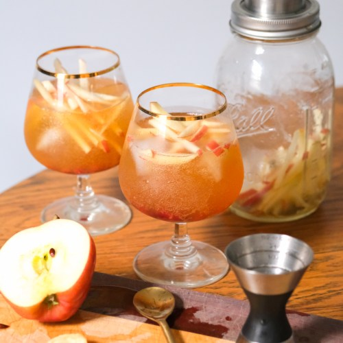 Sparkling Apple Sangria with Kettle Brand Chips