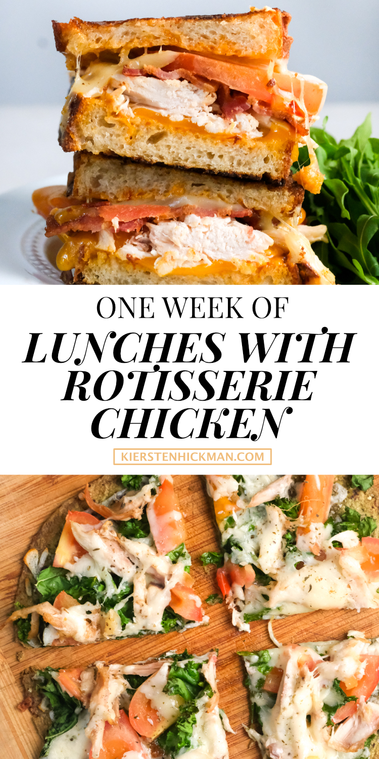 one week of lunches with rotisserie chicken