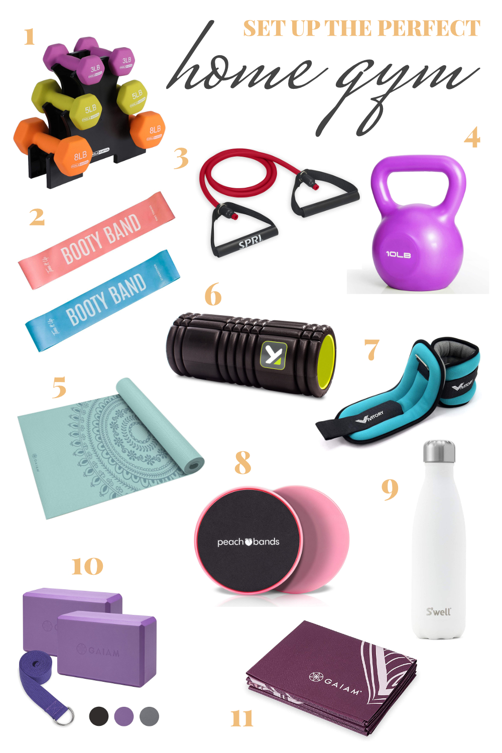 at home gym materials to buy on amazon