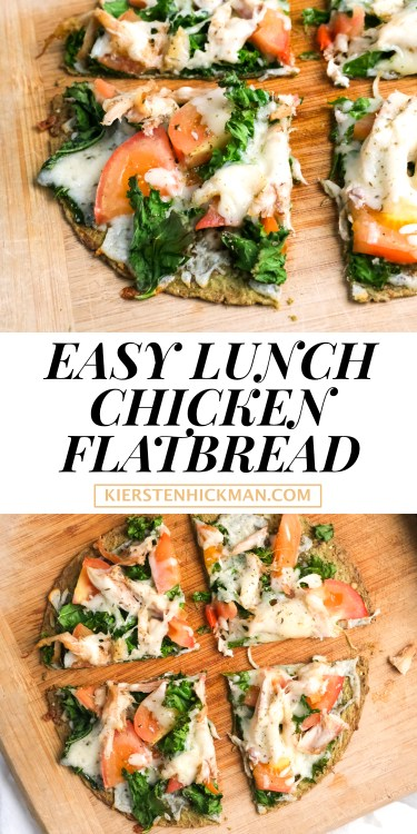 easy lunch chicken flatbraed