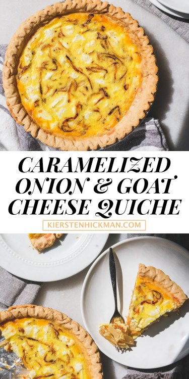 caramelized onion goat cheese quiche