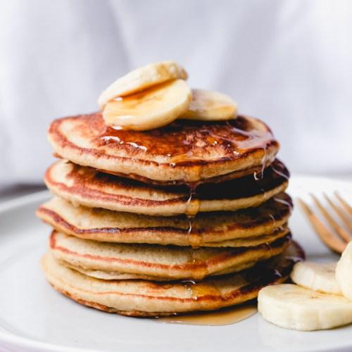 Single-Stack Banana Oatmeal Pancakes