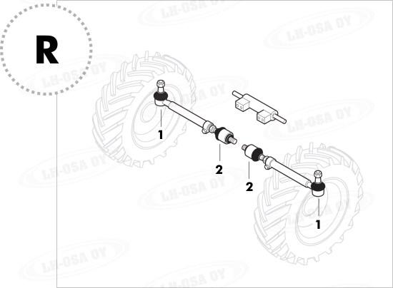 Etuakselin osat 4WD : Kiertokanki.com