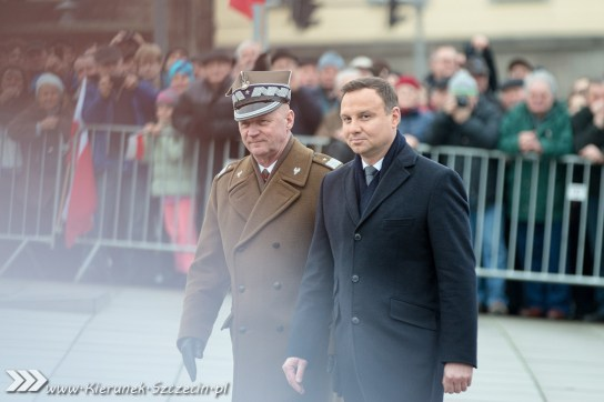 17.12.2015, Prezydent RP Andrzej Duda, obchody 45. rocznicy grudnia '70 w Szczecinie
