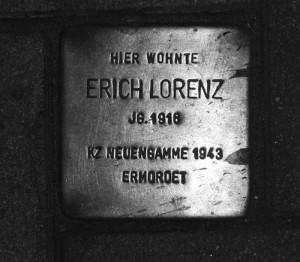 Stolperstein Erich Lorenz