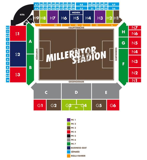 Blockeinteilung Millerntor. Grafik: fcstpauli.com