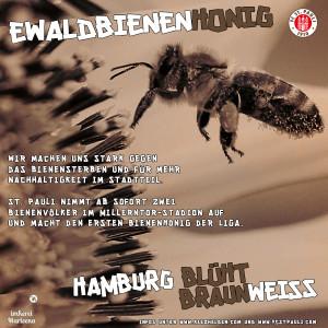 EwaldLienenHonig - Hamburg blüht Braun-Weiß.