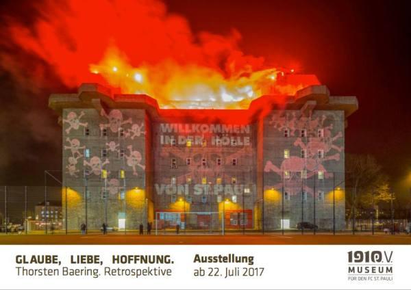 Fotoausstellung Thorsten Baering: Glaube, Liebe, Hoffnung. Ab 22.07.2017 im FC St. Pauli - Museum