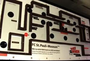 Am Museumseingang befindlicher, ertastbarer Raumplan mit Knöpfen für eine akustische Themenansage der jeweiligen Räume