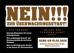 Demonstrationsflyer. Alle Infos auch im Fließtext