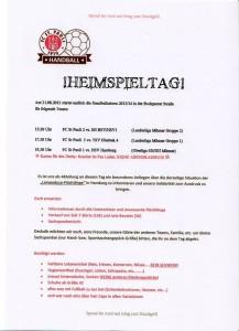 Infos zu den 3 Handballspielen. Klick führt zur Facebookinfoseite.