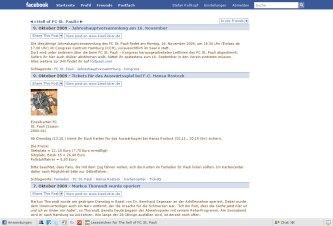 Complete integration of my blog www.kiezkicker.de/kiezkicker/ at Facebook as app: http://apps.facebook.com/kiezkicker/