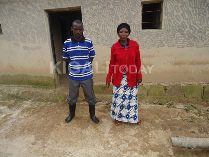 Nshimiyimana n'umugore we Muhimpundu ubu ngo babanye neza.