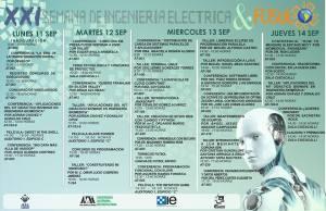 Calendario de Actividades de la XXI Semana de Ingeniería Eléctrica
