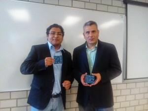 Ingenieros Donaldo Cruz y Adrián Chávez, emprendedores de la empresa B10Ware