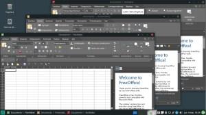 Ilustración 44: Manjaro ofrece además del clásico LibreOffice a FreeOffice, una suite ofimática pensada en emular el diseño y características de la suite de Microsoft.