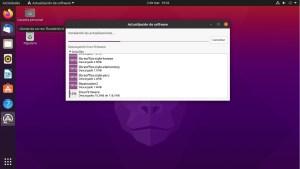 Ilustración 26: Ubuntu mantiene su esquema de actualización de software tal y como hace años, aunque con esquemas más limpios.