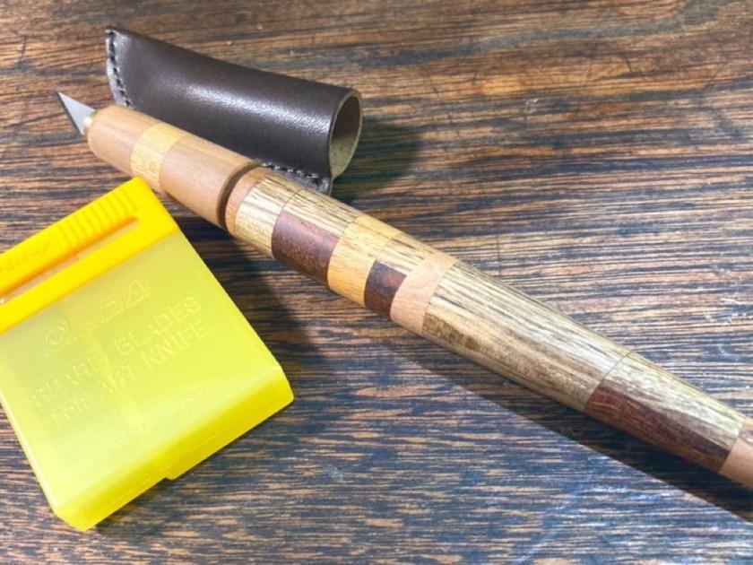 寄木デザインナイフ