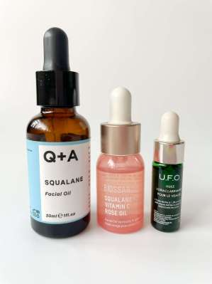A few facial oils to use as a last step when layering evening skincare