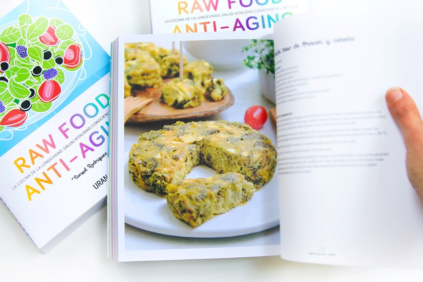 Mi libro, Raw Food Anti-aging. Tortilla