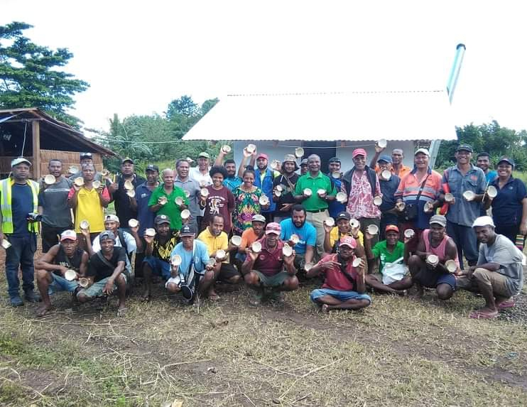First Edible White Copra training in Milne Bay province