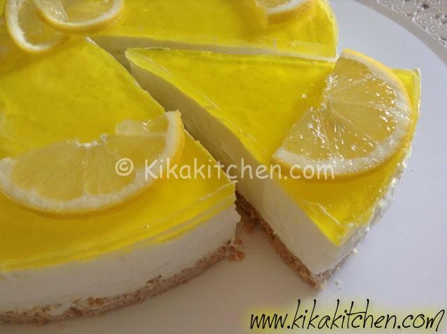 Cheesecake al limone senza cottura in forno  Kikakitchen