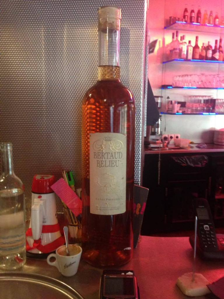 La bouteille Bertaud Belieu, club prestige- coup d'état-restaurant-Paris