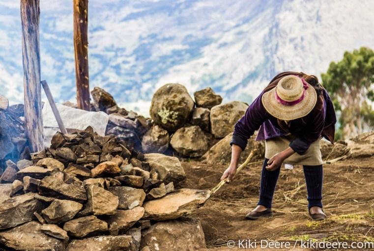 Making Pachamanca, Andes, Peru