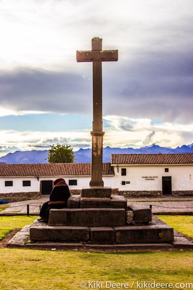 Lady Selling Potatoes Outside Church, Chinchero, Peru