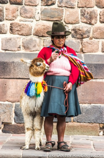 Lady with Llama, Cusco, Peru