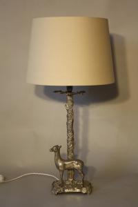 Silver metal Valenti style deer lamp in Lighting