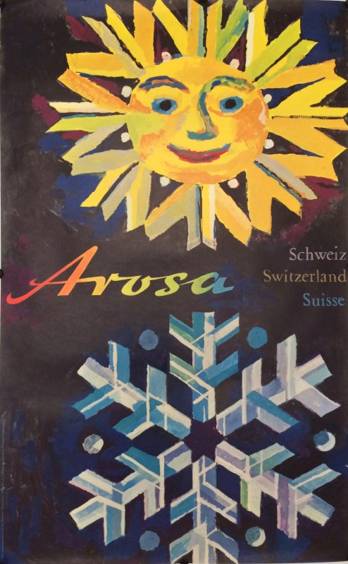 sun face and snowflake for the resort of Arosa