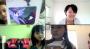 7歳の女の子3人で、ワイワイ国際交流