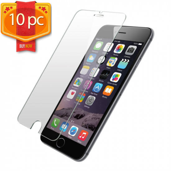 Iphone Se 2020 Iphone 8 7 Iphone 6s 6 Tempered Glass Screen Protector Perfect Size 10pc Pack Clear