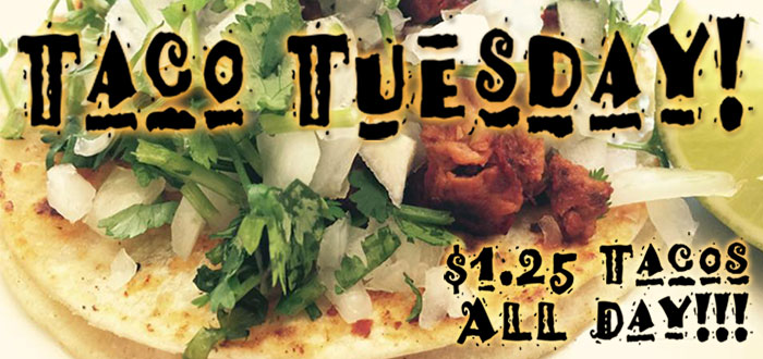 Welcome to Taco Tuesday at Kikos Authentic Mexican, Brighton Colorado, where tacos are $1.25 all day long