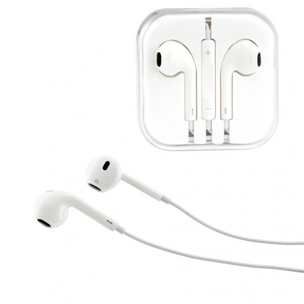 Wholesale iPhone 5S Style Stereo Earphone Headset with Mic