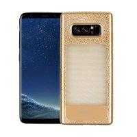 Wholesale Galaxy Note 8 Window Design Fashion TPU Case (Gold)