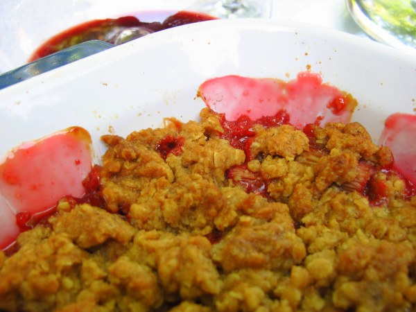 Ruby Red Rhubarb and Strawberry Crumble, Kiku Corner 5