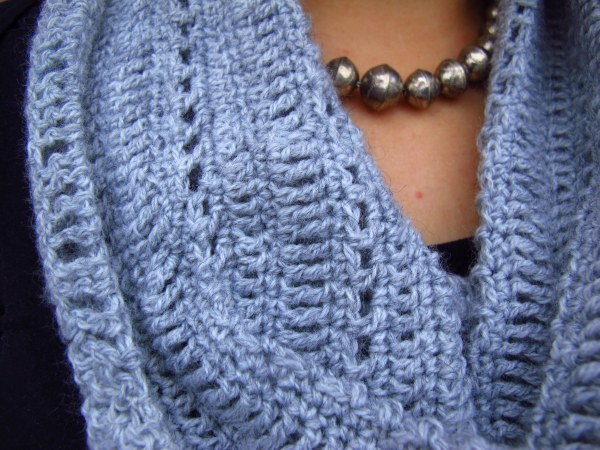 DIY: Lacy Grey Crocheted Cowl and Free Pattern