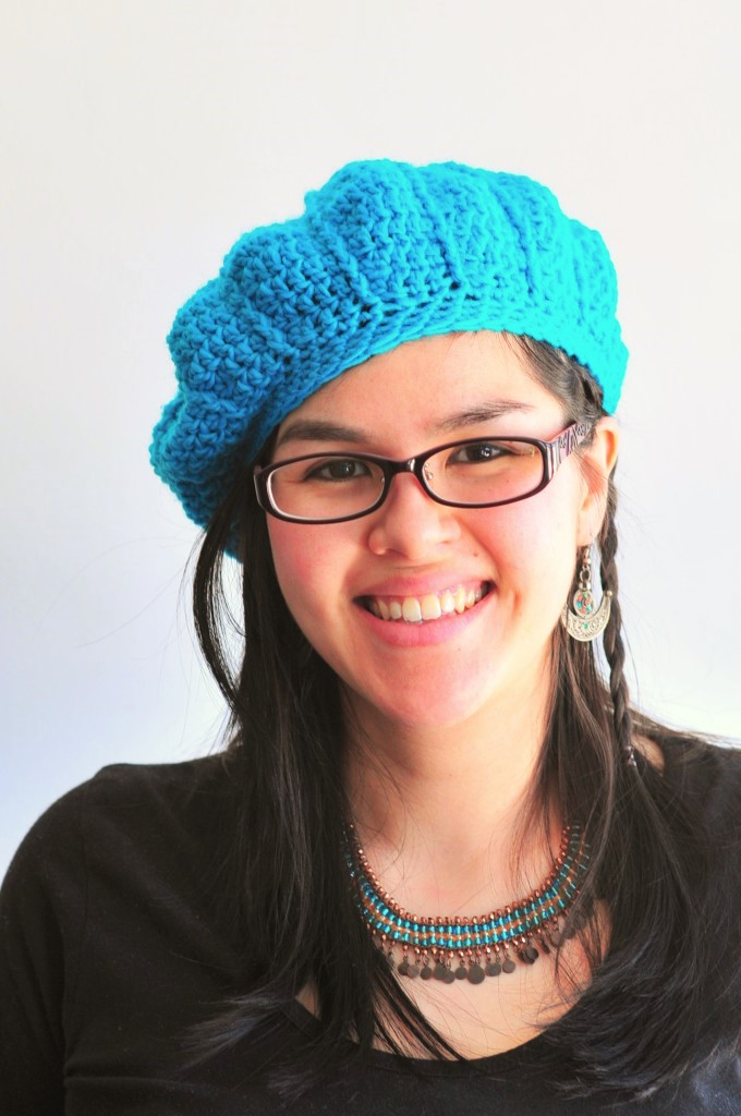DIY: Crochet Cable Beret and Free Pattern | Kiku Corner