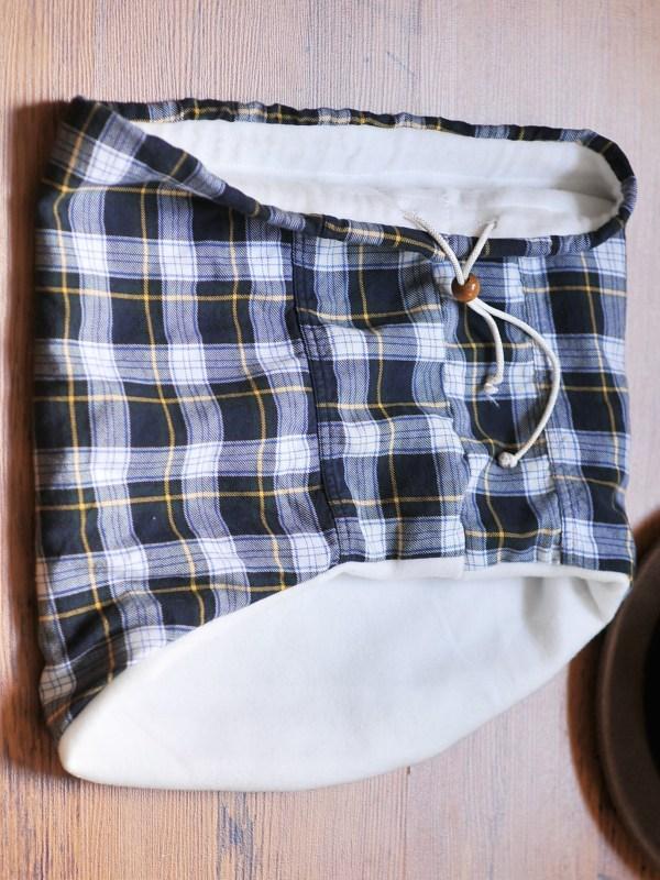 Flannel and Fleece Drawstring Neck-warmer, Kiku Corner 5