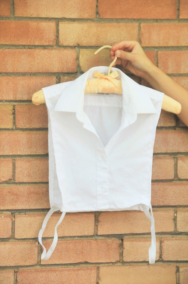 DIY: Faux chemise (make your own dickey)