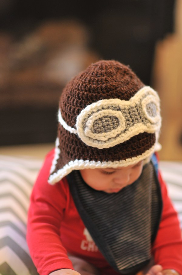 Crochet Aviator Hat and Free Pattern