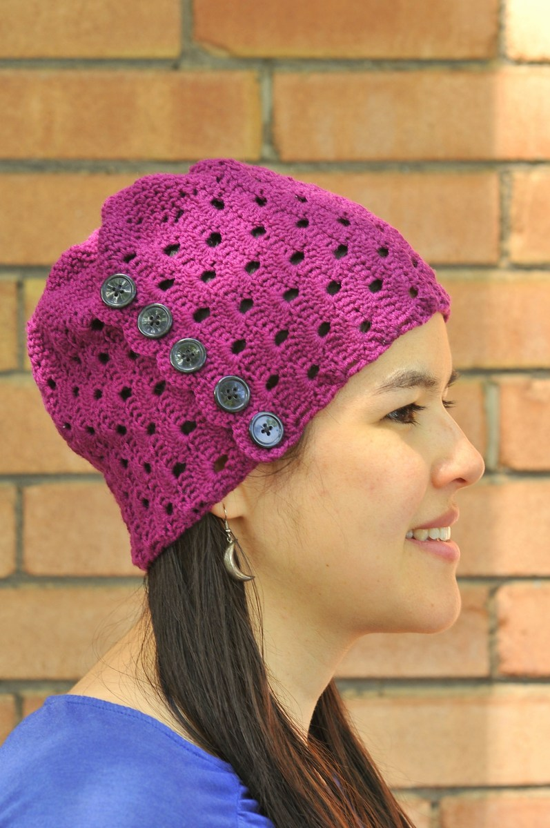 DIY: Crochet Buttons and Lace Hat by Sharon Zientara
