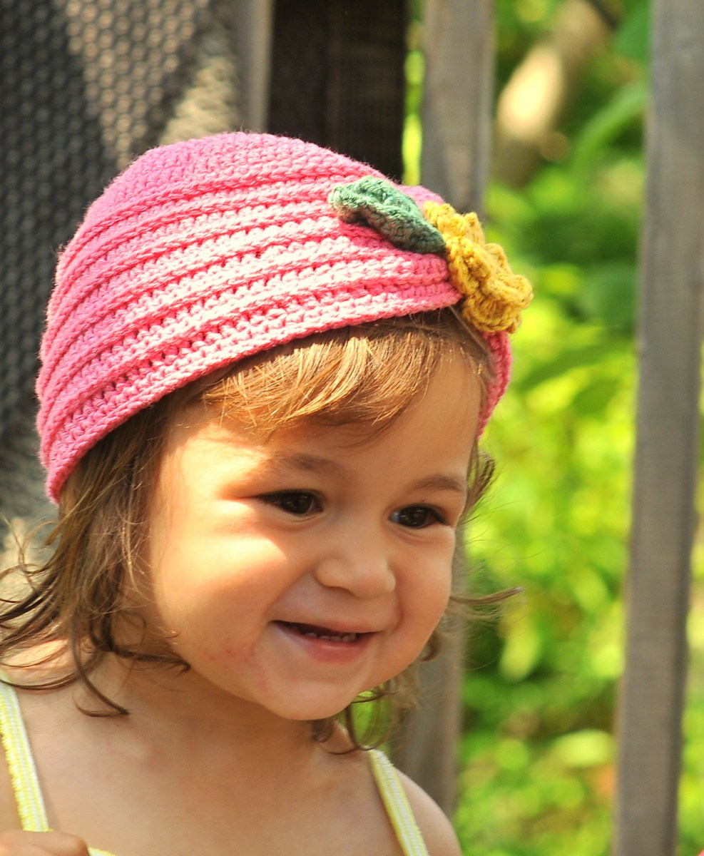 DIY: Crochet Toddler Turban with Flower and Free Pattern