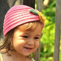 Crochet Toddler Turban with Flower