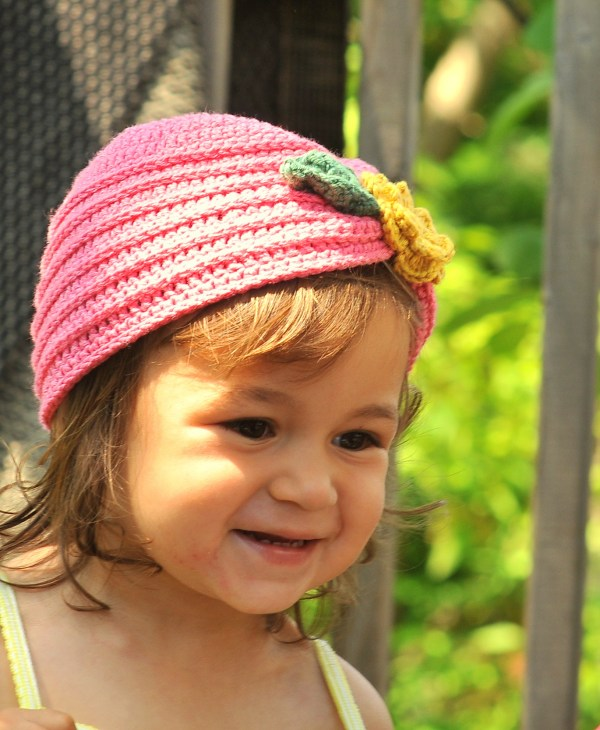 Crochet Toddler Turban with Flower
