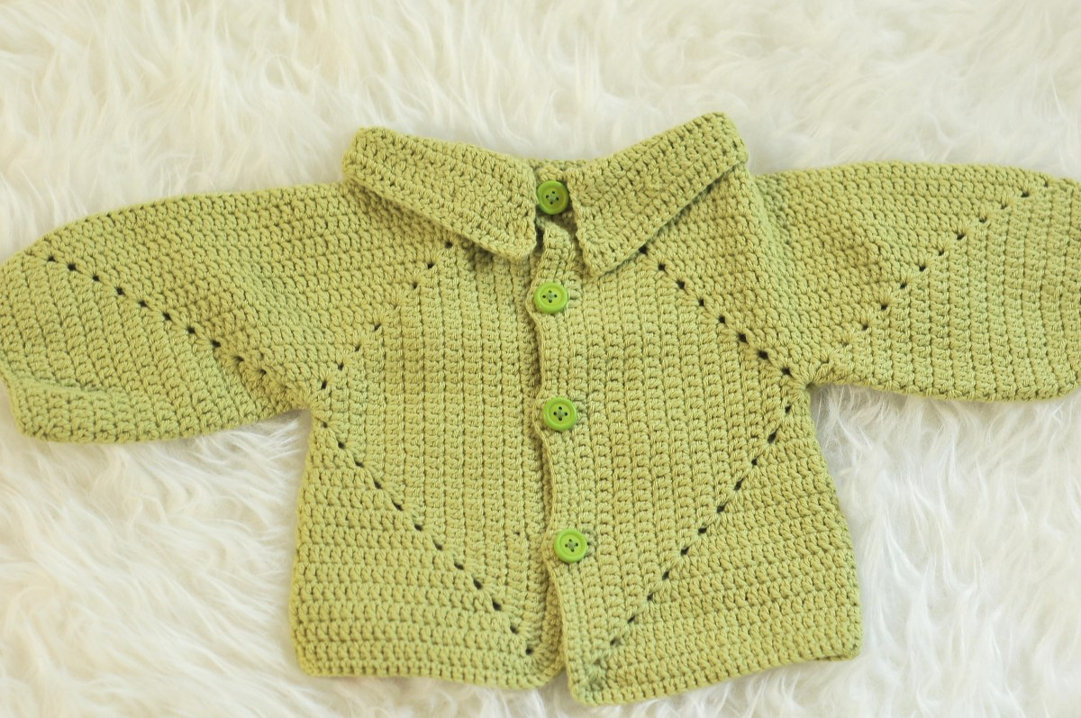 DIY: Sue's No Holes Hexagon Baby Cardigan and Free Pattern
