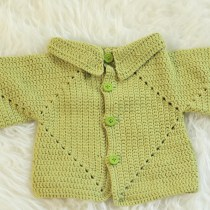 Sue's No Holes Hexagon Baby Cardigan