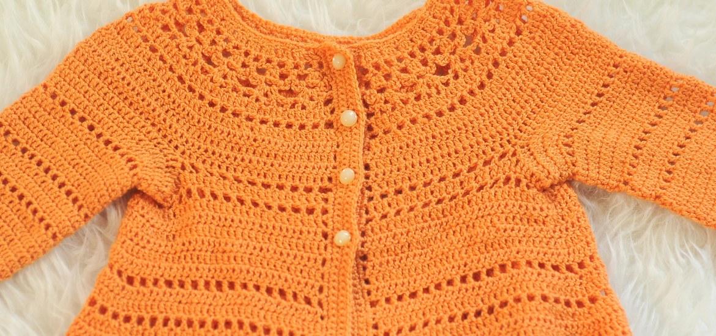 81547d842fd9 DIY  Crochet Gina Toddler Cardigan by Vicky Chan - Kiku Corner